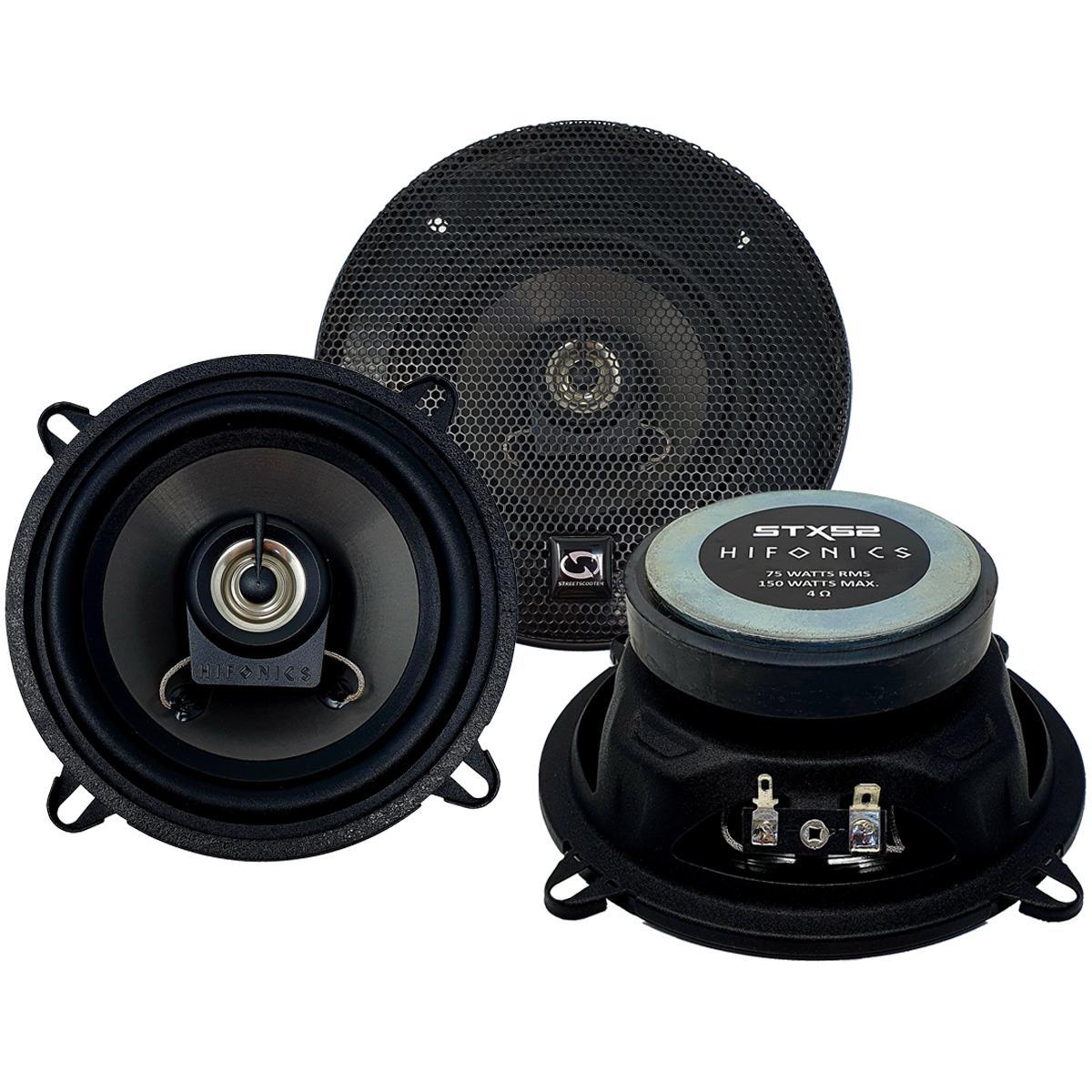 Купете STX-52 HIFONICS Ø: 130мм, със защитна решетка, с принадлежности, 5.25цол (инч), мощност: 150(x2)ват единица-мярка за количество: чифт Говорители STX-52 евтино
