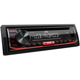 KD-T402 JVC AOA 2.0, med fjärrkontroll, 1 DIN, Kopplingar/Kontakter: AUX in, Kopplingar/Kontakter: USB, MP3, WMA, WAV, AAC, FLAC Effekt: 4x50W Stereoanläggning KD-T402 köp lågt pris
