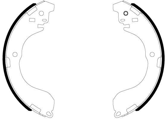 OE Original Bremsklötze für Trommelbremse 8DB 355 038-041 HELLA