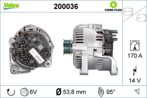 VALEO Lichtmaschine 200036