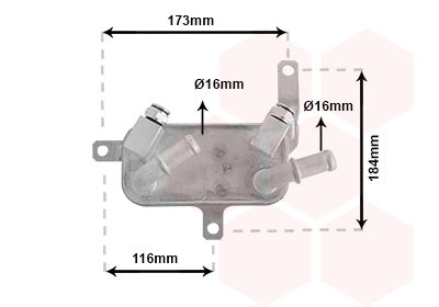 OPEL TIGRA Getriebeölkühler - Original VAN WEZEL 37003698