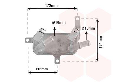 OPEL MERIVA 2013 Getriebe Ölkühler - Original VAN WEZEL 37003698