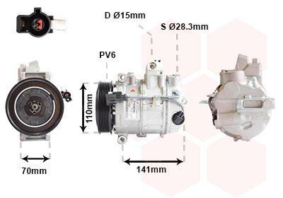 Original JAGUAR Kompressor Klimaanlage 7701K701
