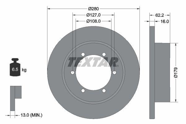 92308500 TEXTAR Bremsscheibe billiger online kaufen