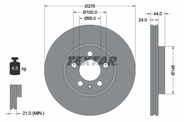 VW Disque de frein d'Origine 92313703