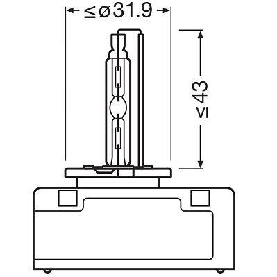 OSRAM   Glühlampe, Fernscheinwerfer 66540