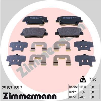 Bremsbelagsatz ZIMMERMANN 25153.155.2