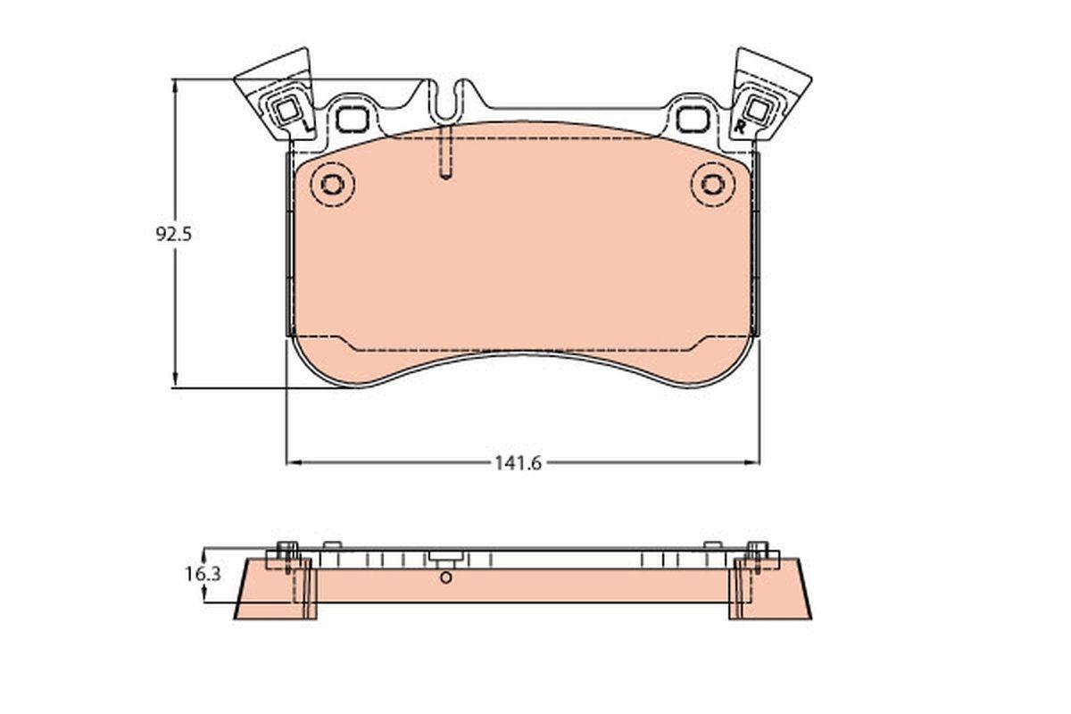 Bremsbelagsatz Scheibenbremse TRW GDB2229
