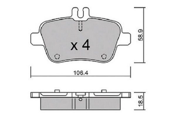 Bremsklötze AISIN BPBM-2015