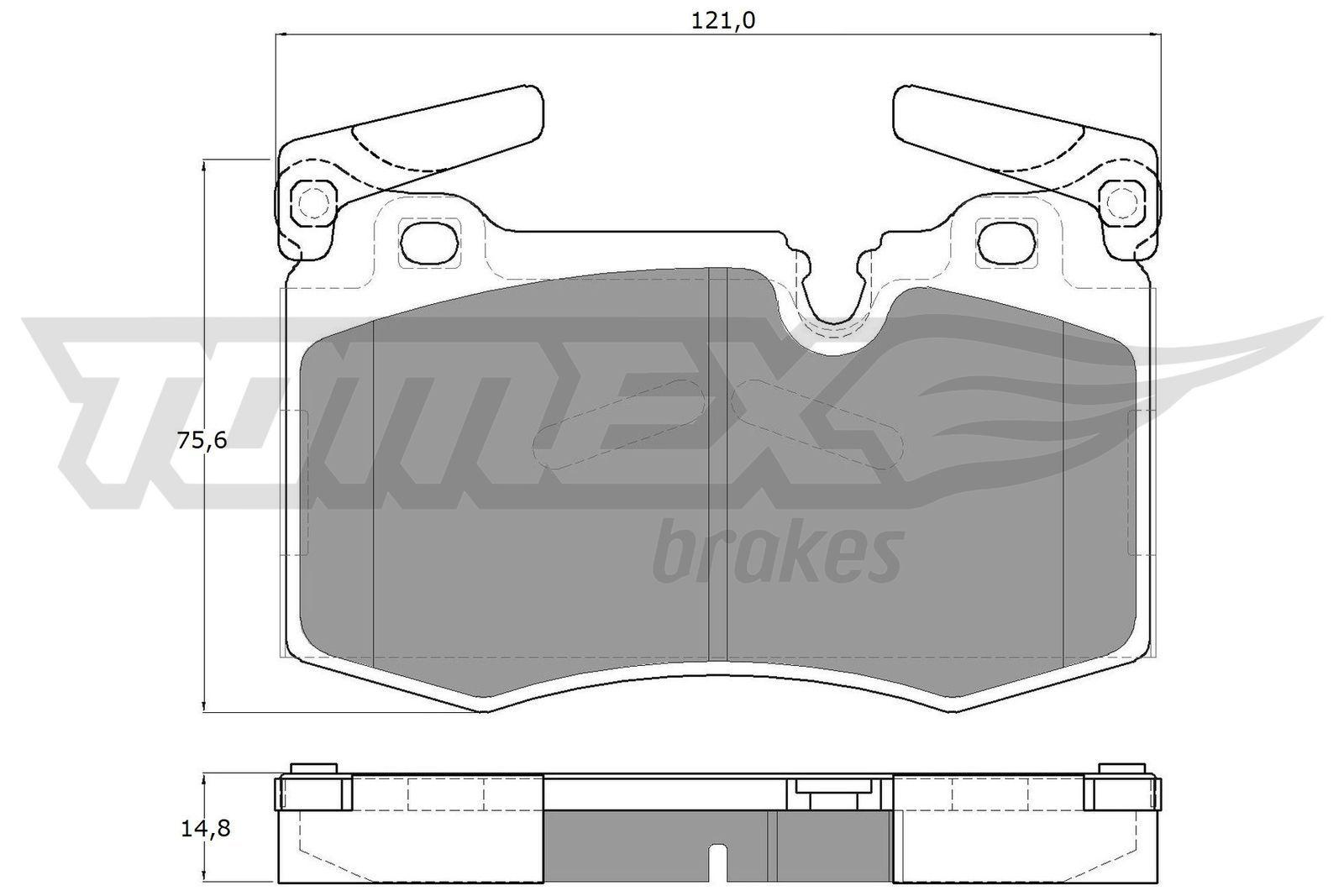 Bremsklötze TOMEX brakes TX 19-47