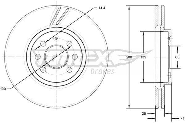 Dischi freno TX 71-20 TOMEX brakes — Solo ricambi nuovi