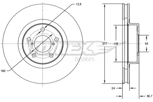 TOMEX brakes Bremsscheibe TX 71-51