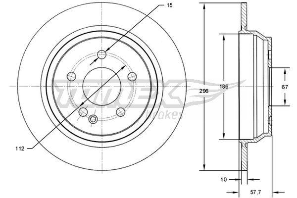 Dischi freno TX 71-89 TOMEX brakes — Solo ricambi nuovi