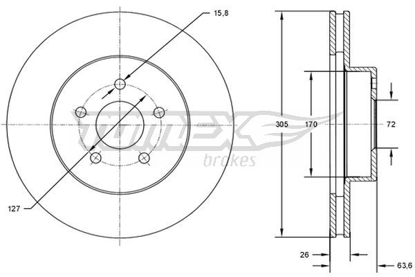Set dischi freni TX 72-23 TOMEX brakes — Solo ricambi nuovi
