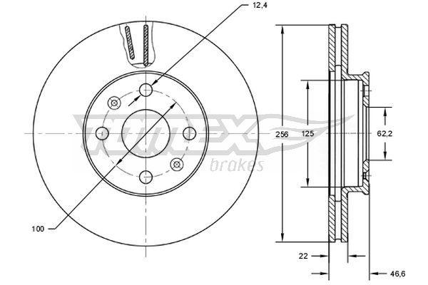 Kit dischi freno TX 73-03 TOMEX brakes — Solo ricambi nuovi