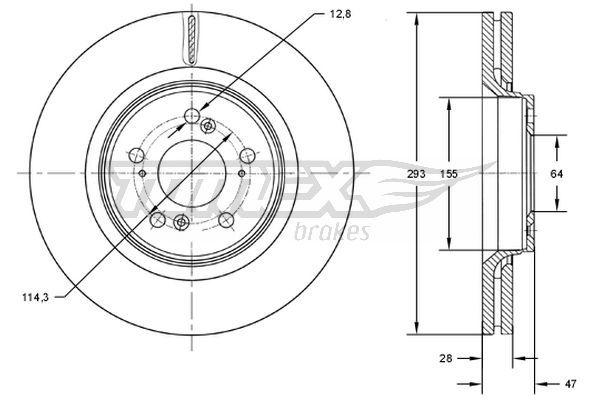 Freni a disco TX 73-07 TOMEX brakes — Solo ricambi nuovi