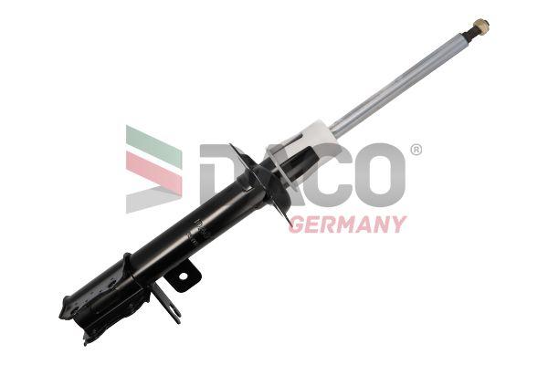 Купете 555002L DACO Germany на задната ос отляво, газов, двутръбен, макферсън, отгоре щифт Амортисьор 555002L евтино