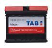 Acheter Batterie de démarrage Courant d'essai à froid, EN: 510A, Volt: 12V, Disposition pôles: 0, 00 TAB 189054 à tout moment