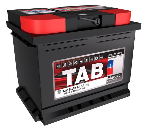 TAB: Original Starterbatterie 189065 (Kälteprüfstrom EN: 640A, Spannung: 12V, Polanordnung: 00)