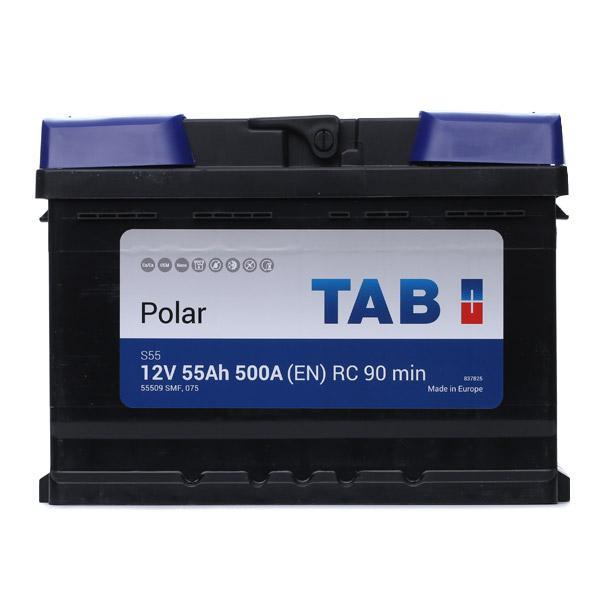 AUDI 80 1990 Starterbatterie - Original TAB 246055 Kälteprüfstrom EN: 500A, Spannung: 12V, Polanordnung: 00