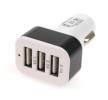 AMiO 01027 Zigarettenanzünder Stecker / Ladekabel Anzahl d. Ein-/Ausgänge: 3 USB, weiß, schwarz niedrige Preise - Jetzt kaufen!