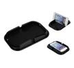 01044 Antislip-dashboardmatjes Lengte: 10cm, Breedte: 15.5cm, Zwart, Silicoon van AMiO aan lage prijzen – bestel nu!