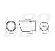 01117 Terminales de escape 78mm de AMiO a precios bajos - ¡compre ahora!
