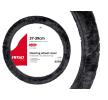 AMiO 01357 Lenkrad Schonbezug grau, Ø: 37-39cm, Eco-Leder, Polyester zu niedrigen Preisen online kaufen!