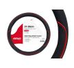 01362 Coberturas de volante preto, vermelho, Ø: 37-39cm, PP (polipropileno) de AMiO a preços baixos - compre agora!