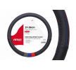 AMiO 01368 Lenkradhülle schwarz, blau, rot, grau, Ø: 37-39cm, Eco-Leder niedrige Preise - Jetzt kaufen!