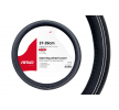 01380 Steering wheel protectors Black, White, Ø: 37-39cm, Leatherette from AMiO at low prices - buy now!