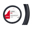 01382 Protector de volante negro, Ø: 37-39cm, cuero de AMiO a precios bajos - ¡compre ahora!