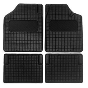 01710 AMiO Op maat gemaakt Rubber, Voor en achter, Aantal: 4, Zwart Vloermatset 01710