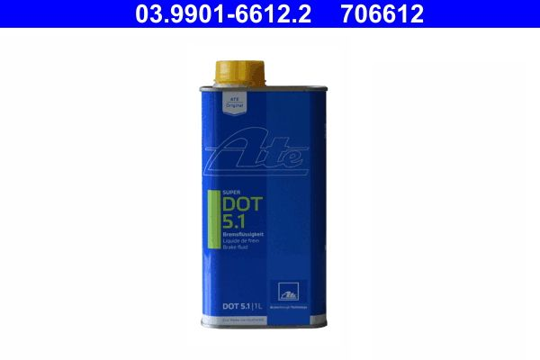 Brake and clutch fluid 03.9901-6612.2 ATE — only new parts