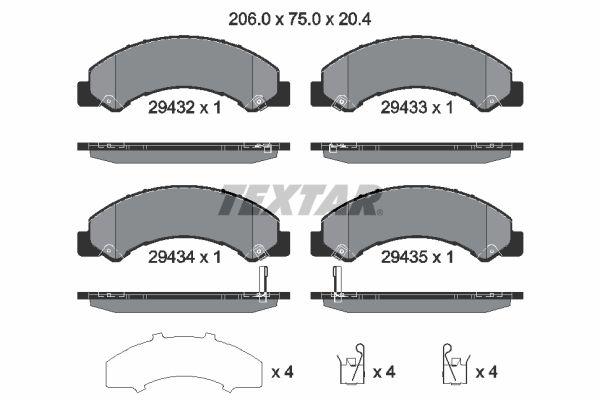 2943201 TEXTAR Bremsbelagsatz, Scheibenbremse billiger online kaufen