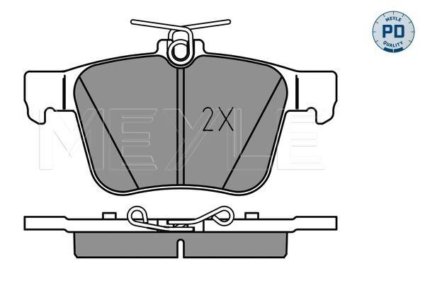 Bremsbelagsatz Scheibenbremse MEYLE 025 250 0916/PD