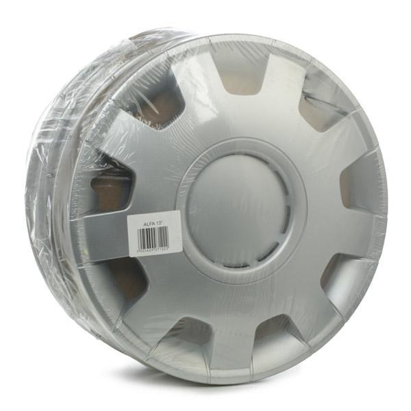 Køb ALFA 13 LEOPLAST 13 tommer sølv Mængdeenhed: sæt Hjulkapsler ALFA 13 billige