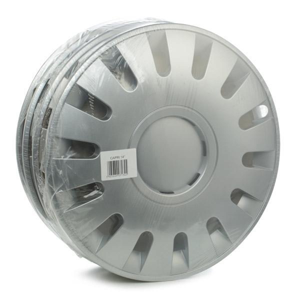 Pirkti CAPRI 14 LEOPLAST 14 col. sidabro kiekio vienetas: komplektas Ratų gaubtai CAPRI 14 nebrangu