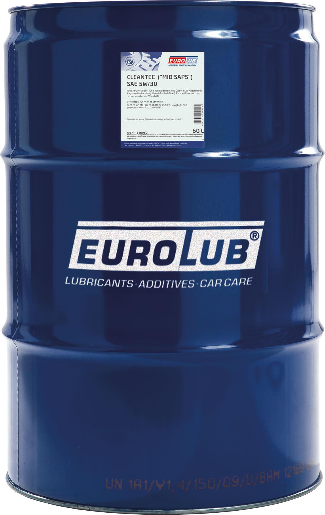 Motoröl EUROLUB 349060