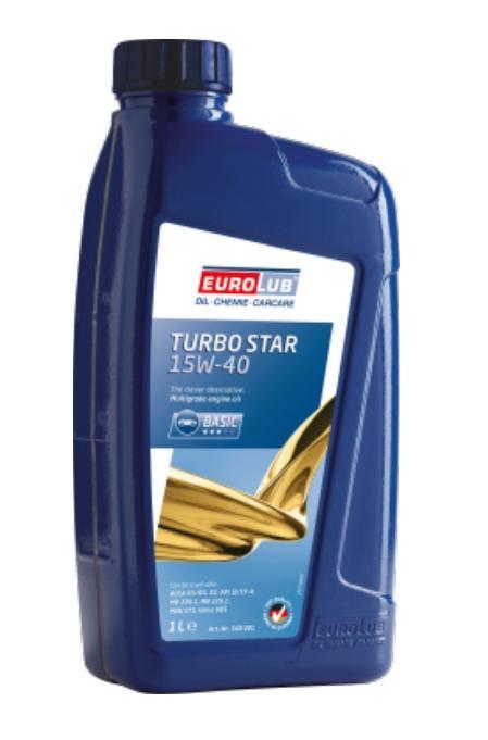 340001 EUROLUB TURBO STAR 15W-40, 1l Motoröl 340001 günstig kaufen