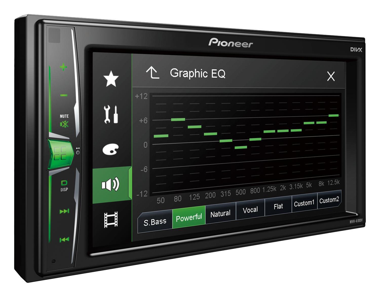 MVH-A100V PIONEER MVH-A100V 6.2in, 2 DIN, 4x50W Pantalla para coche MVH-A100V a buen precio