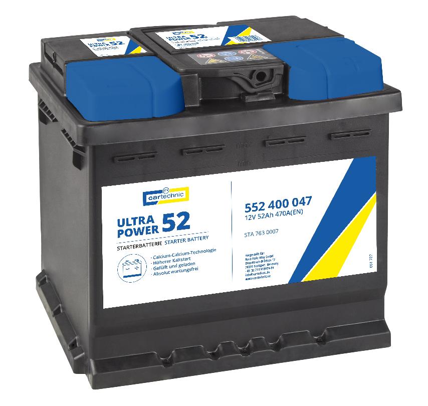 Achetez Système électrique CARTECHNIC 40 27289 03559 8 (Courant d'essai à froid, EN: 470A, Volt: 12V, Disposition pôles: 0) à un rapport qualité-prix exceptionnel