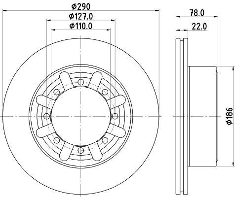 8DD 355 133-321 HELLA Bremsscheibe billiger online kaufen