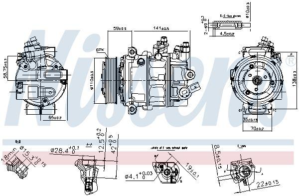 Original SEAT Klimakompressor 890754