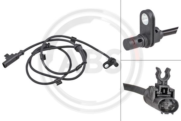 A.B.S.: Original ABS Sensor 31873 (Länge: 1225mm)