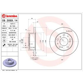 Brake Disc 08.3069.14 for ALFA ROMEO AR at a discount — buy now!