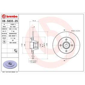 08.5833.25 BREMBO BEARING DISC LINE Voll, ohne ABS-Sensorring, mit Radlagersatz Ø: 238mm, Lochanzahl: 4, Bremsscheibendicke: 8mm Bremsscheibe 08.5833.25 günstig kaufen