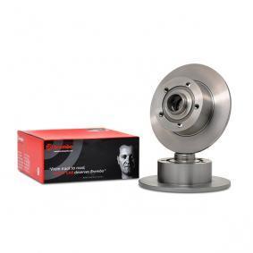 Køb 08.6911.14 BREMBO fuld, uden hjullejesæt, uden ABS-sensorring Ø: 245mm, Lochanzahl: 5, Bremsscheibendicke: 10mm Bremseskive 08.6911.14 billige