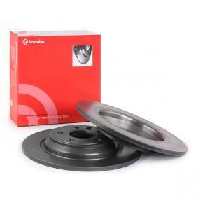 08.A537.11 BREMBO COATED DISC LINE Solid, belagd Ø: 302mm, Hålant.: 5, Bromsskivetjocklek: 11mm Bromsskiva 08.A537.11 köp lågt pris