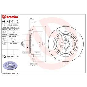 08.A537.11 Bromsskiva BREMBO - Billiga märkesvaror